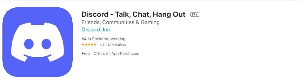 Discord app listing