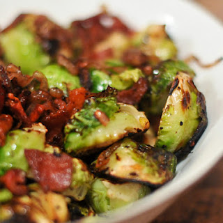 Grilled Brussels Sprouts With Bacon.