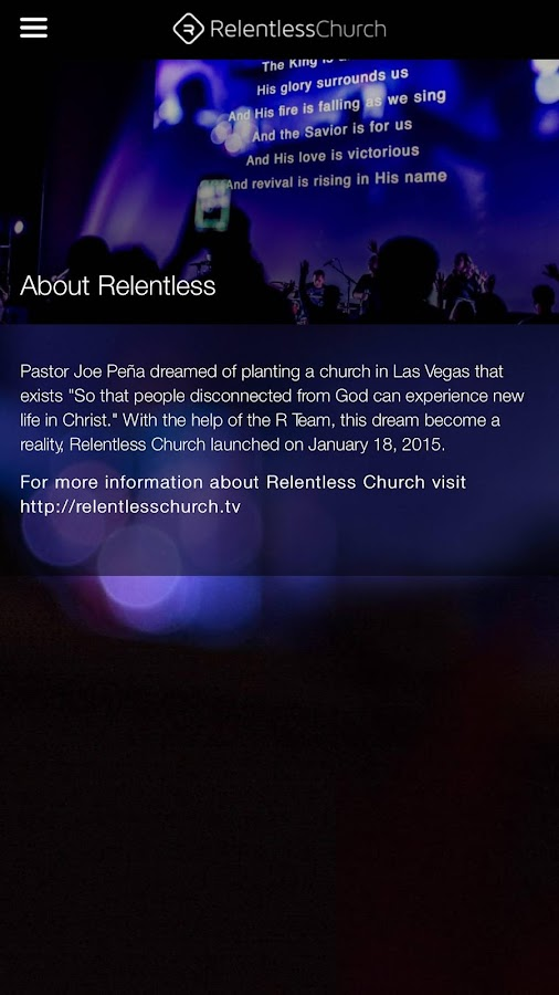 Relentless Church - Las Vegas- screenshot