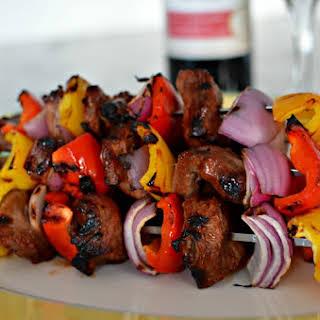 Marinated Beef Kebabs.