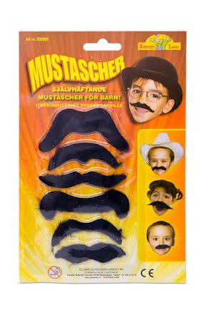 Mustascher, barn