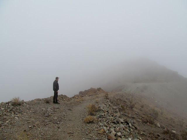 Looking for the Ubehebe Mine through the fog