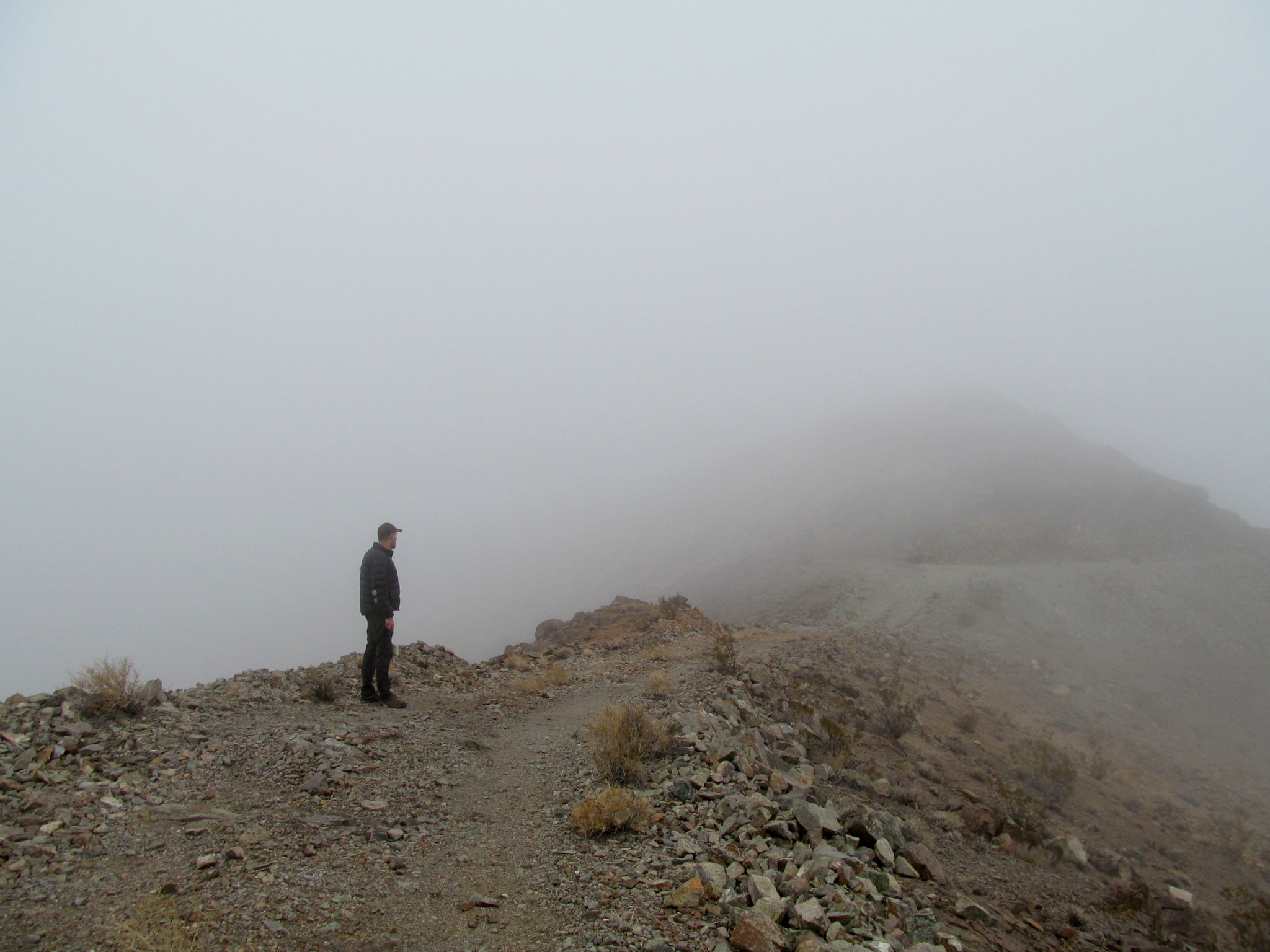 Photo: Looking for the Ubehebe Mine through the fog