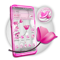 White and Pink Flower Launcher Theme APK
