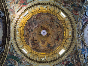 Photo: The dome of the Gesu