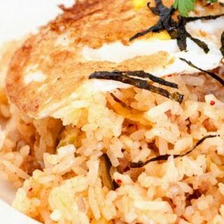 Kimchi Fried Rice (Bokkeumbap) with Pork