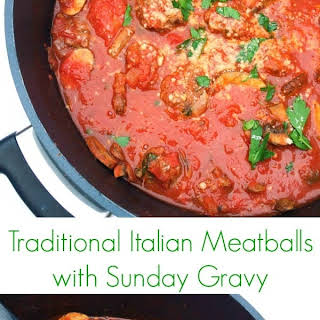 Italian Meatballs with Sunday Gravy.