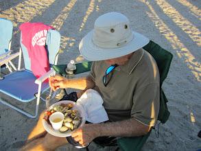 Photo: Bill Day enjoys the feast.