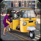 hors route tuk tuk auto pousse: touristiqu conduir icon