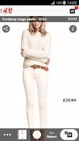 Screenshot of H&M