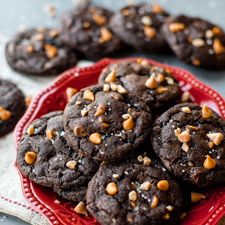 Butterscotch Toffee Chocolate Fudge Cookies