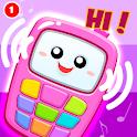 Pink Baby Phone Kids: Games Baby & Kid Music icon