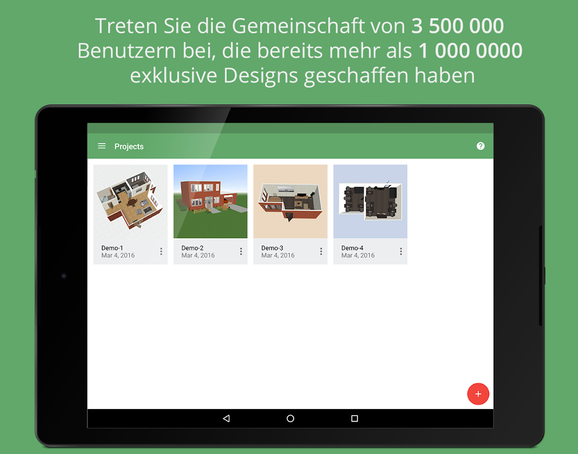 planner 5d innenarchitektur android apps auf google play. Black Bedroom Furniture Sets. Home Design Ideas