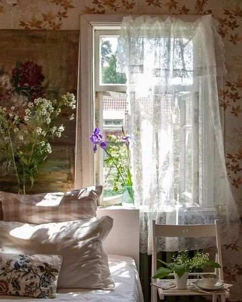 Peaceful Vibe with Floral Farmhouse Bedroom