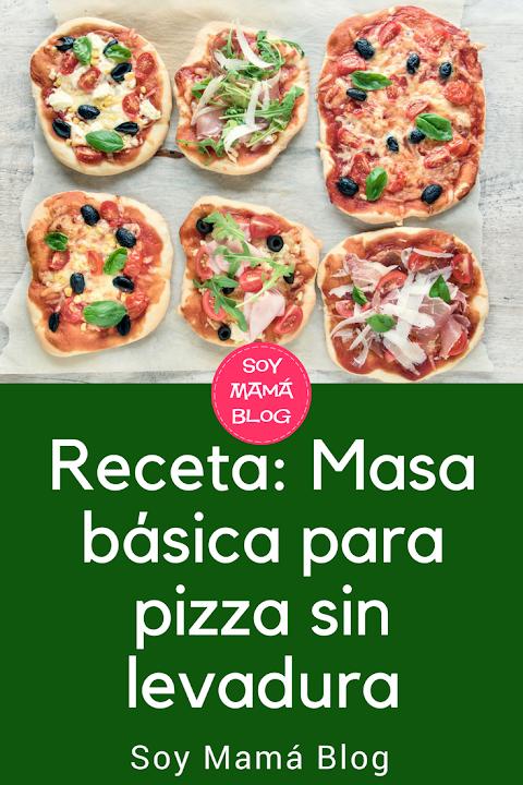 Receta: Receta: Masa básica para pizza sin levadura