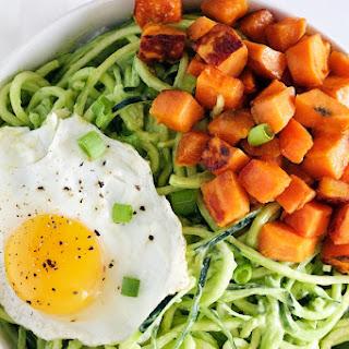 Zucchini Noodle Breakfast Bowl