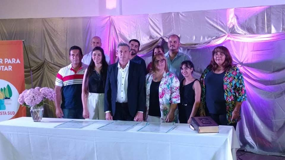 IVAN DIYORIO JURÓ COMO INTENDENTE DE PAMPAYASTA SUD POR CUATRO AÑOS MÁS-