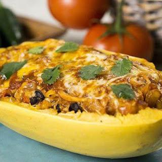 Spaghetti Squash Enchilada Boats Recipe