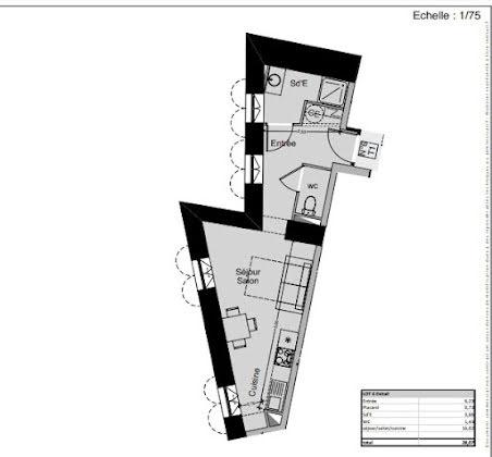 Vente studio 28,07 m2
