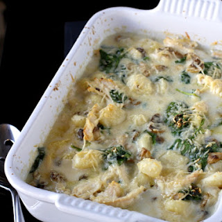 Baked Gnocchi with Chicken.