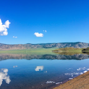 by Эрдэнэцэцэг Баяраа - Landscapes Waterscapes ( clouds, reflection, waterscape, lake, landscape )