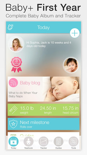 Baby + : your baby tracker Apps (apk) free download for Android/PC/Windows screenshot