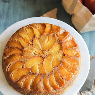 Peach Cornmeal Upside Down Cake