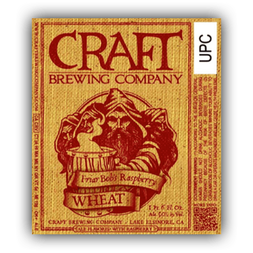 Logo of Craft Brewing Company Friar Bob's Raspberry Wheat