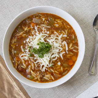 Instant Pot Hamburger Orzo Soup