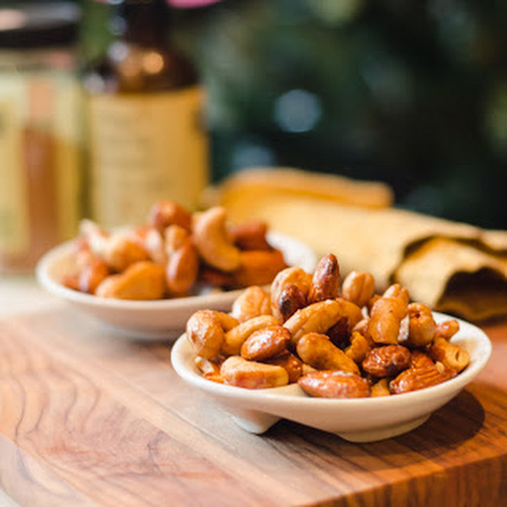 Maple Honey Roasted Almonds and Cashews Recipe