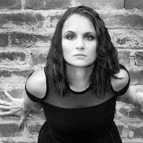 That look by Shayne Janks Nicolas - People Portraits of Women ( pose, model, black and white, woman, beautiful, posing )