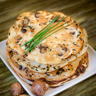 Pancakes With Mushrooms And Onion