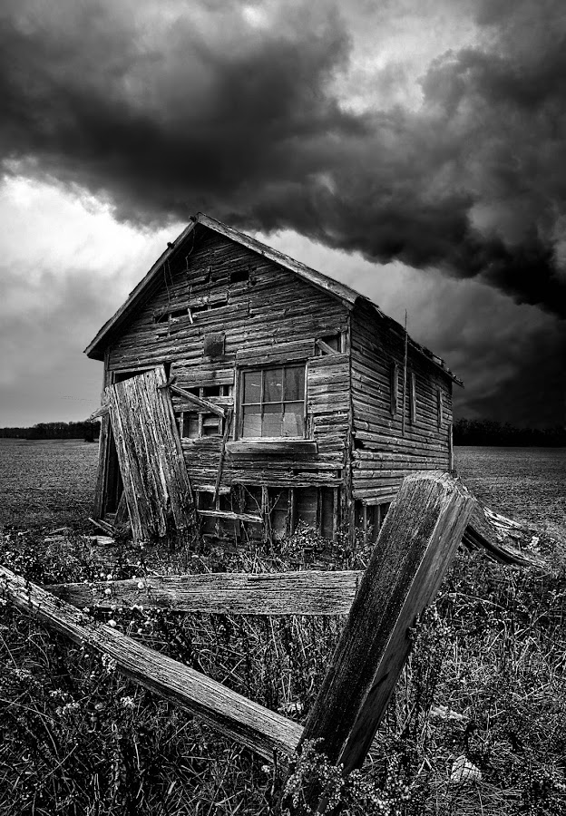 Destination Unknown by Phil Koch - Buildings & Architecture Other Exteriors ( black and white collection, time scars,  )