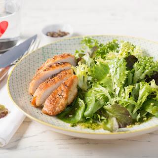 Blattsalat mit Hühnerbrust