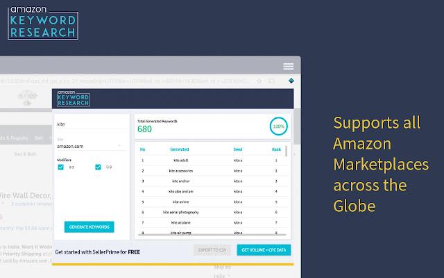 Amazon Keyword Tool for free: SellerApp