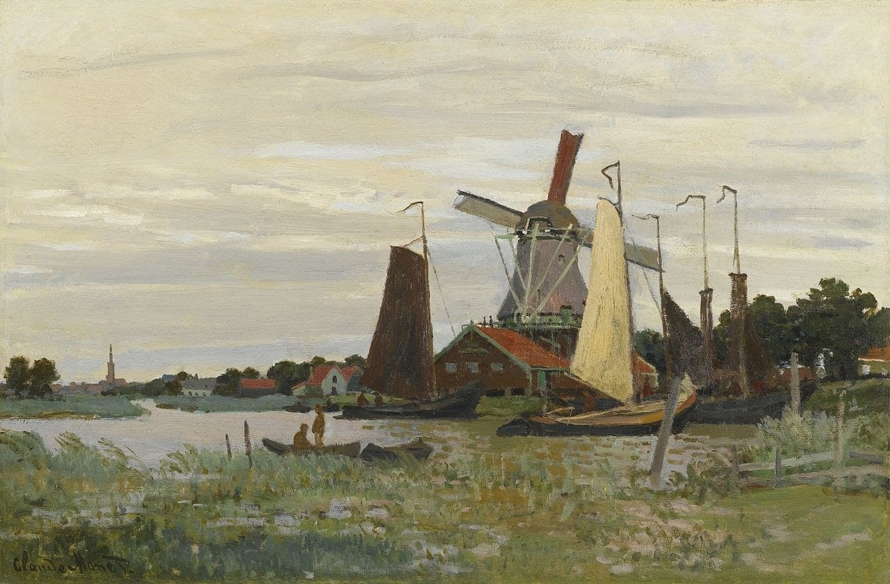 A Mill at Zaandam by Claude Monet 1871.