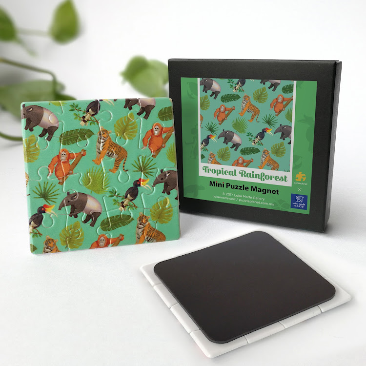 Mini Puzzle Magnet: Tropical Rainforest by Loka Made