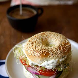 Horseradish Dill Bagel Sandwiches.
