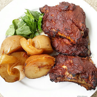 Slow Cooker Ribs & Potatoes.