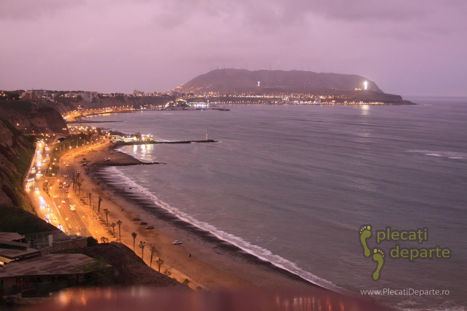 vedere spe ocean, din Larcomar, in cartierul Miraflores, in zona centrala a orasului Lima, capitala Peru