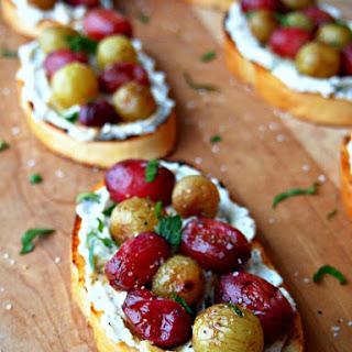 Roasted Grapes Crostini.