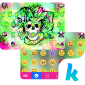 Joker Emoji Keyboard Theme