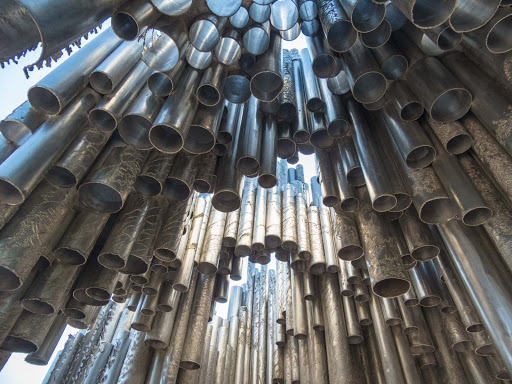 helsinki-landmark-from-below.jpg - View from below Sibelius Monument.