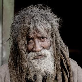 Sain by Furrukh Shahzad - People Portraits of Men ( face, hafizabad, furrukh, shahzad, old man, gray, hair, people, portrait, human, wrinkled )