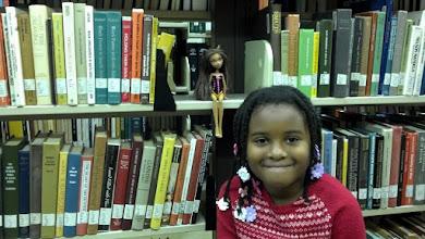 Photo: Kaleya has a little fun @ VU Central Library