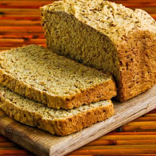 Bread Machine Whole Wheat Bread with Bulgur Wheat, Oats, Bran, and Flax Seed Meal.