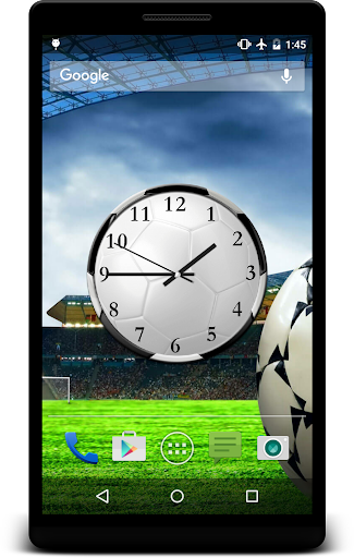 Football Clock Live Wallpaper