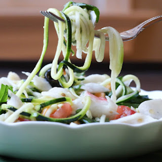 Italian Crab and Zucchini Pasta Salad