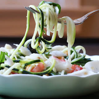 Italian Crab and Zucchini Pasta Salad.