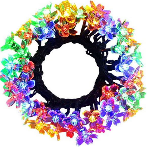 Great Deal: Outdoor Solar Powered Flower String Lights for Christmas Decoration